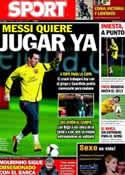 Portada diario Sport del 3 de Enero de 2012