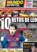 Portada Mundo Deportivo del 3 de Enero de 2012