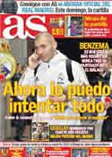 Portada diario AS del 5 de Enero de 2012