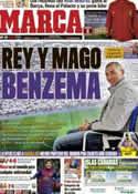 Portada diario Marca del 5 de Enero de 2012