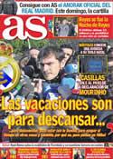Portada diario AS del 6 de Enero de 2012