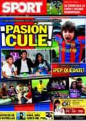 Portada diario Sport del 6 de Enero de 2012