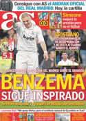 Portada diario AS del 8 de Enero de 2012