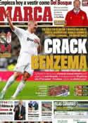 Portada diario Marca del 8 de Enero de 2012