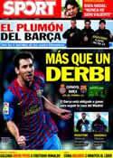 Portada diario Sport del 8 de Enero de 2012