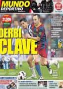 Portada Mundo Deportivo del 8 de Enero de 2012