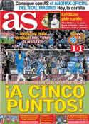 Portada diario AS del 9 de Enero de 2012
