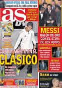 Portada diario AS del 10 de Enero de 2012