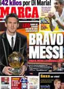 Portada diario Marca del 10 de Enero de 2012