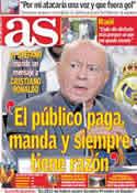 Portada diario AS del 12 de Enero de 2012