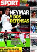 Portada diario Sport del 12 de Enero de 2012