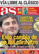 Portada diario AS del 13 de Enero de 2012
