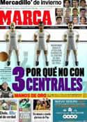 Portada diario Marca del 13 de Enero de 2012