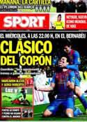Portada diario Sport del 13 de Enero de 2012