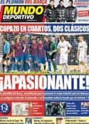 Portada Mundo Deportivo del 13 de Enero de 2012