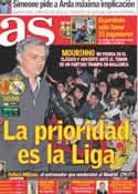 Portada diario AS del 14 de Enero de 2012