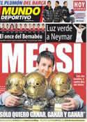 Portada Mundo Deportivo del 14 de Enero de 2012