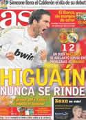 Portada diario AS del 15 de Enero de 2012