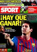Portada diario Sport del 15 de Enero de 2012