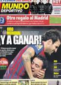 Portada Mundo Deportivo del 15 de Enero de 2012