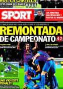 Portada diario Sport del 16 de Enero de 2012
