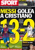 Portada diario Sport del 17 de Enero de 2012