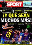 Portada diario Sport del 18 de Enero de 2012