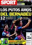 Portada diario Sport del 19 de Enero de 2012
