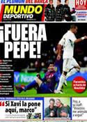 Portada Mundo Deportivo del 20 de Enero de 2012