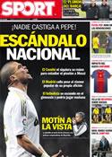 Portada diario Sport del 21 de Enero de 2012