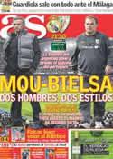 Portada diario AS del 22 de Enero de 2012