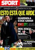 Portada diario Sport del 22 de Enero de 2012