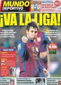 Portada Mundo Deportivo del 22 de Enero de 2012