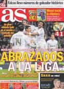 Portada diario AS del 23 de Enero de 2012