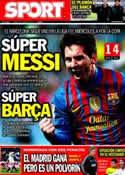 Portada diario Sport del 23 de Enero de 2012