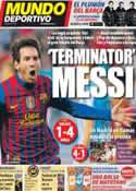Portada Mundo Deportivo del 23 de Enero de 2012