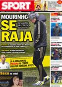 Portada diario Sport del 24 de Enero de 2012