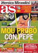 Portada diario AS del 25 de Enero de 2012