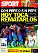 Portada diario Sport del 25 de Enero de 2012