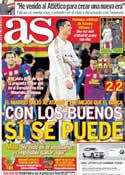 Portada diario AS del 26 de Enero de 2012