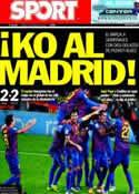 Portada diario Sport del 26 de Enero de 2012