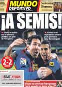 Portada Mundo Deportivo del 26 de Enero de 2012
