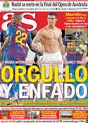 Portada diario AS del 27 de Enero de 2012
