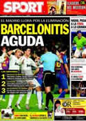 Portada diario Sport del 27 de Enero de 2012
