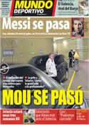 Portada Mundo Deportivo del 27 de Enero de 2012