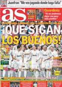 Portada diario AS del 28 de Enero de 2012