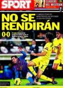 Portada diario Sport del 29 de Enero de 2012