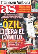 Portada diario AS del 30 de Enero de 2012