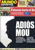 Portada Mundo Deportivo del 30 de Enero de 2012