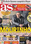 Portada diario AS del 31 de Enero de 2012